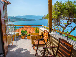 View from Aphrodite Villa, Molyvos